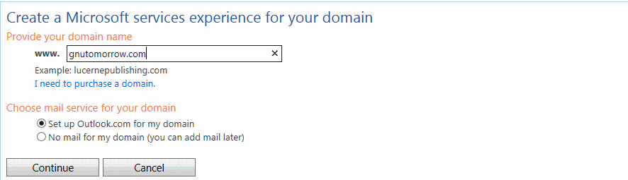 how to get a none free provider email